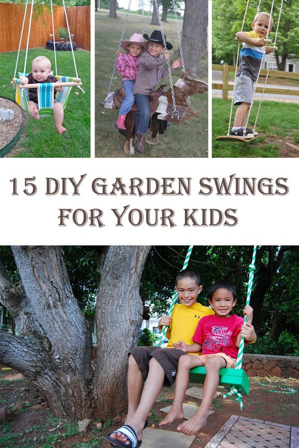 15 DIY Garden Swings For Your Kids