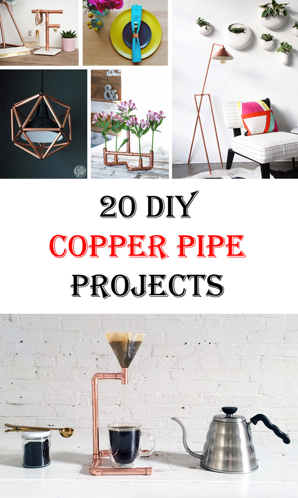 20 diy copper pipe projects to beautify your home crafts for Copper pipe projects