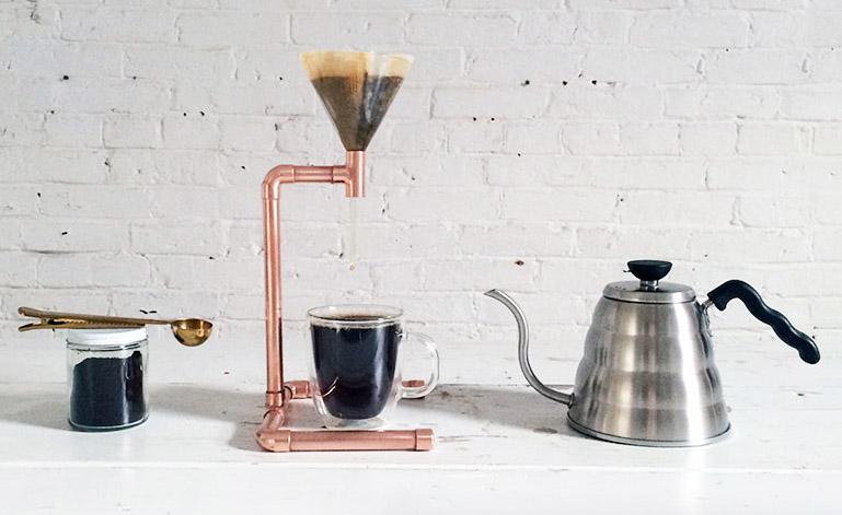 DIY Copper Coffee Maker