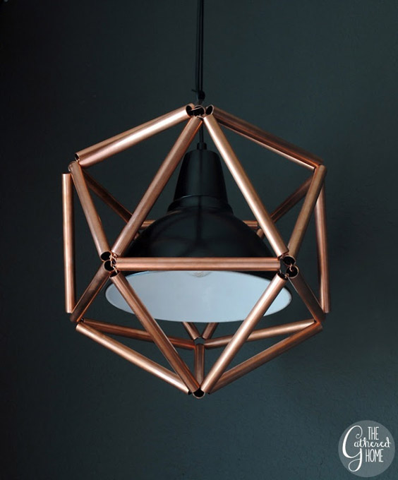 DIY Copper Pipe Icosahedron Light