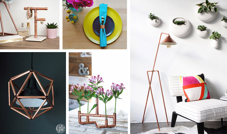 20 DIY Copper Pipe Projects To Beautify Your Home