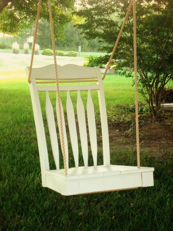 DIY Dining Room Chair Tree Swing