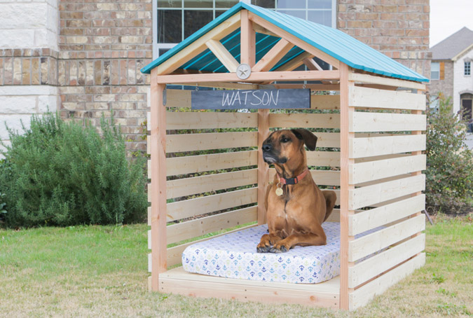 DIY Doghouse Gazebo From The House of Wood
