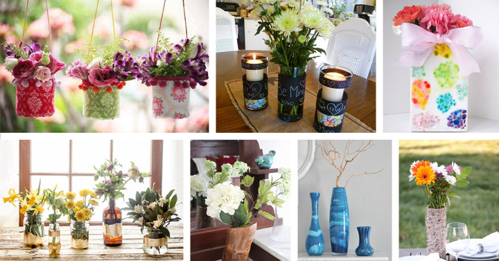 40 Awesome Diy Flower Vase Ideas Crafts Diy