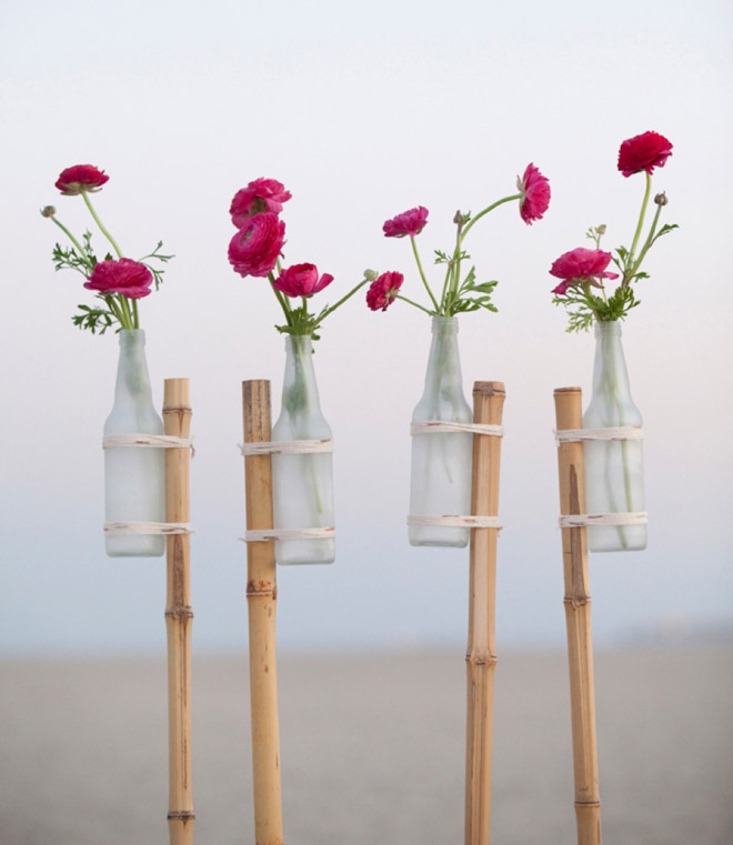 DIY Frosted Glass Vase Stakes