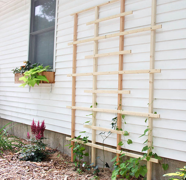 DIY Garden Trellis From Gina Michele