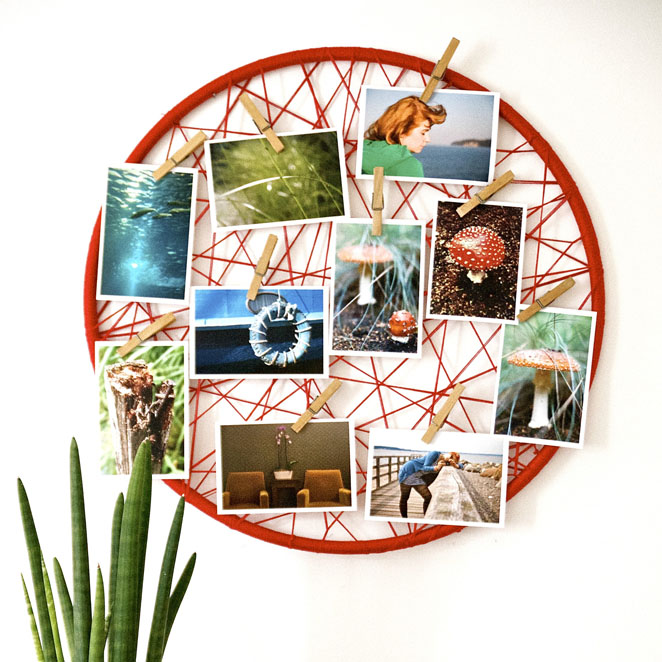 DIY Hoop Photo Display