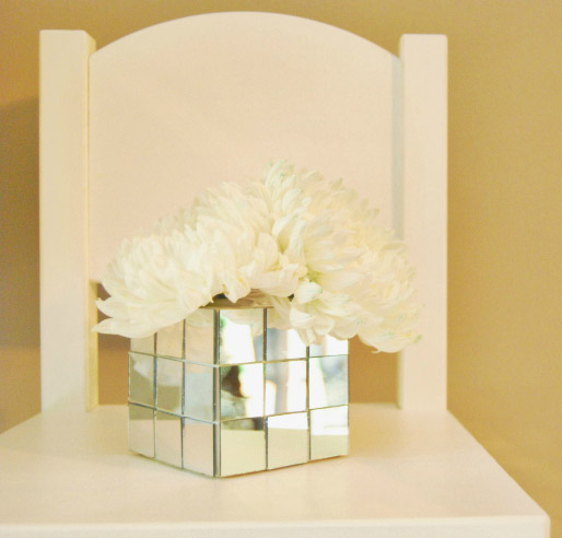 DIY Mirrored Vase