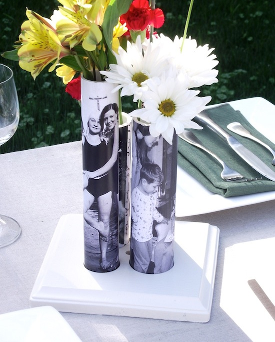 DIY Photo Vases From PVC Pipe