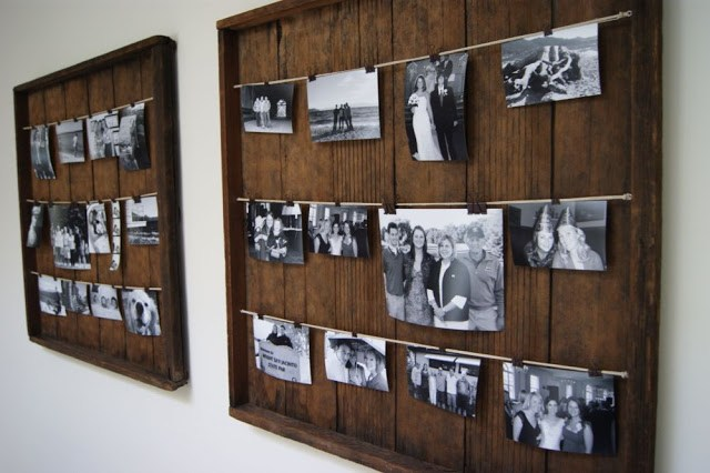 DIY Picture Frame From Fruit Racks