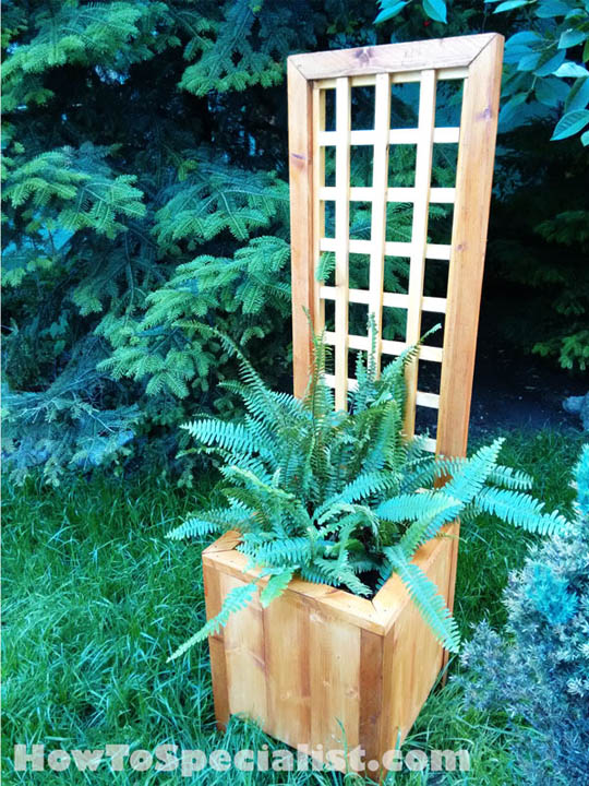 DIY Planter With Trellis From HowToSpecialist