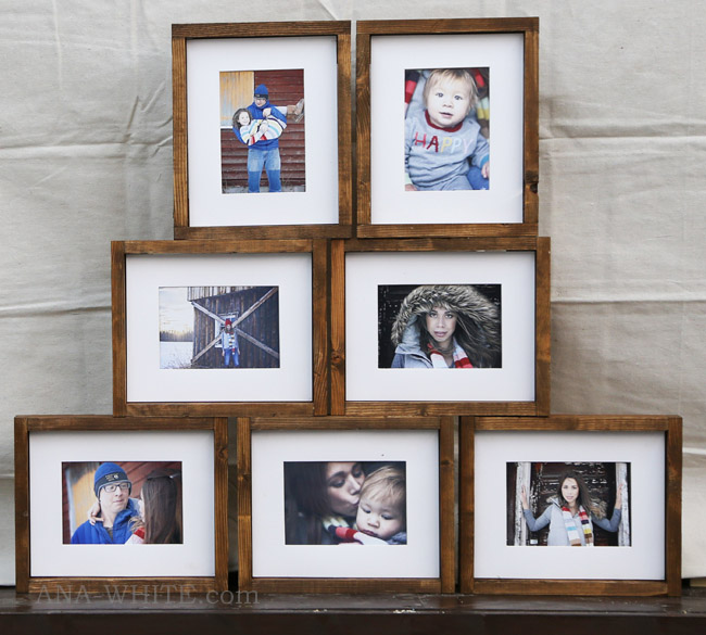 DIY Simple Wood Gallery Frame