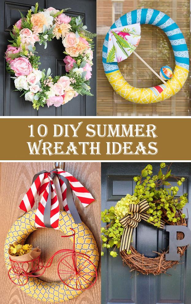 10 DIY Summer Wreath Ideas