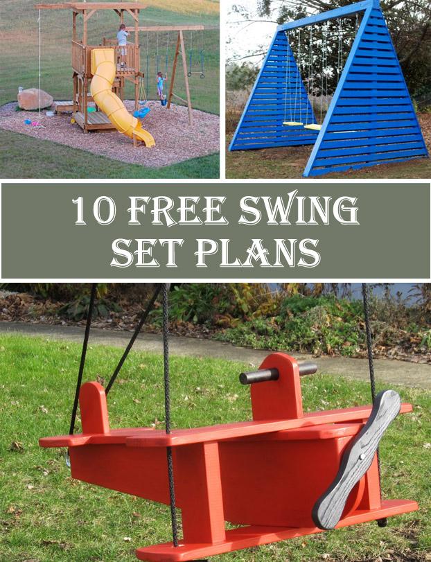 10 Free Swing Set Plans Crafts Diy
