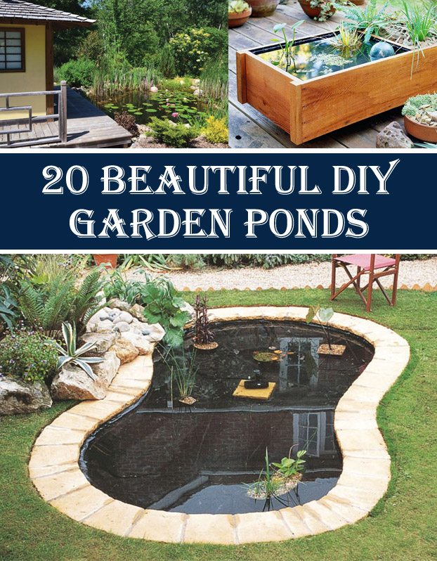 20 Beautiful DIY Garden Pond Ideas