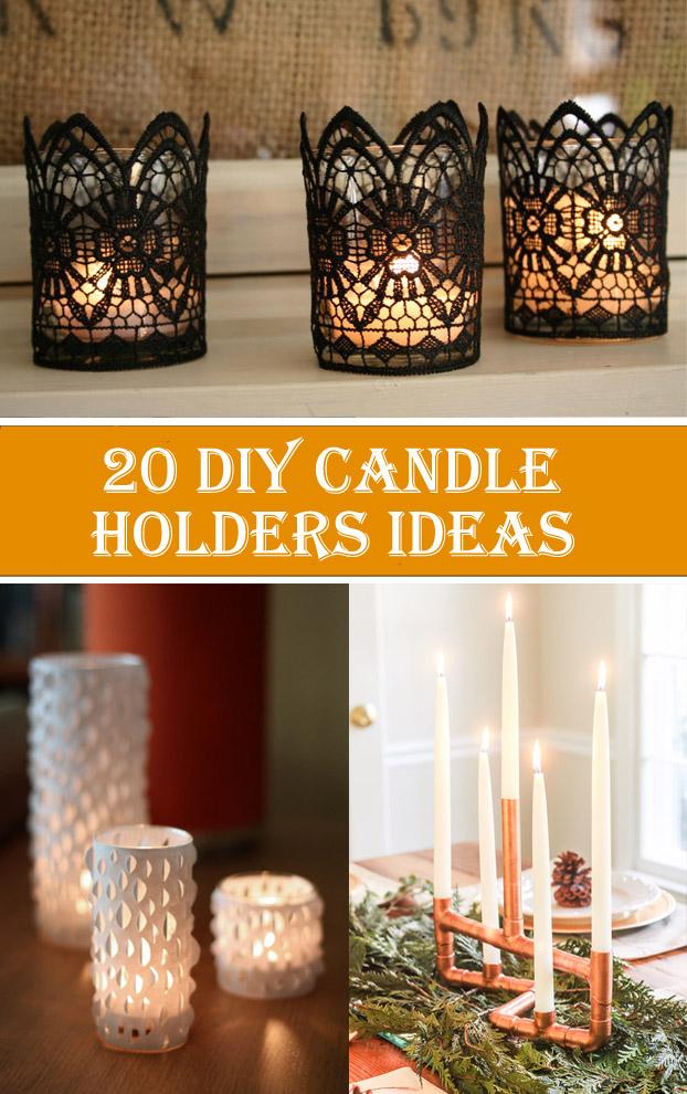 0 Creative & Beautiful DIY Candle Holders Ideas