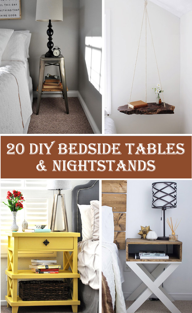 20 DIY Bedside Table & Nightstand Ideas