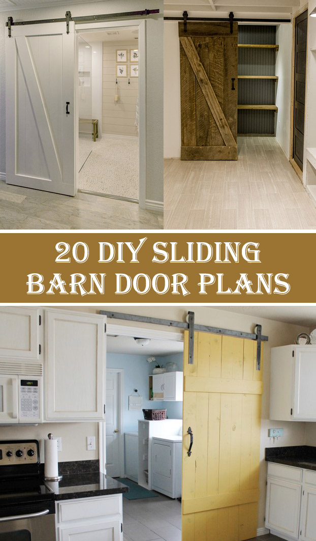 20 DIY Sliding Barn Door Plans