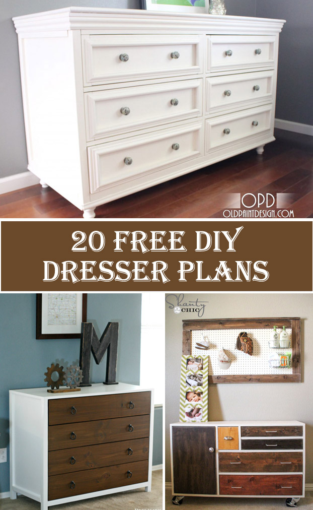20 Free Diy Dresser Plans Crafts Diy