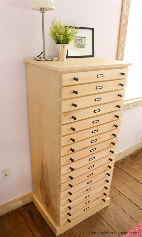 DIY 16 Drawer Dresser