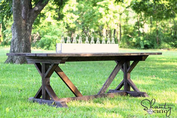 DIY $65 Farmhouse Table by Shanty2Chic