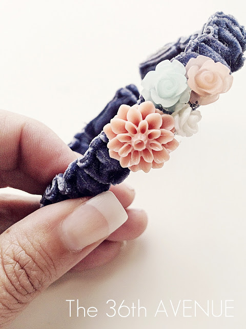 DIY Adjustable Ribbon Bracelet