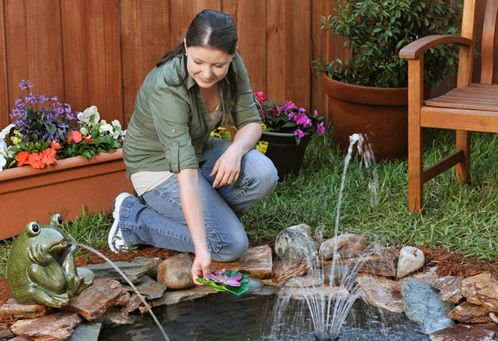 DIY Backyard Pond by HomeDepot