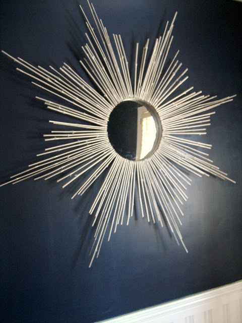 DIY Bamboo Stick Sunburst Mirror