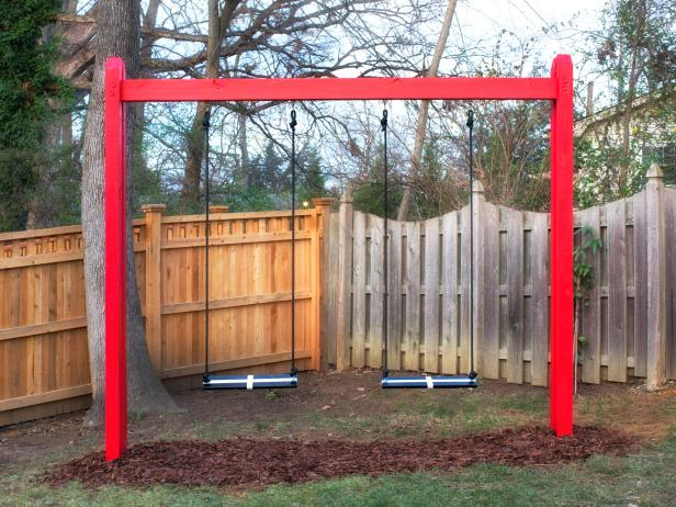 DIY Basic Wooden Swing Set