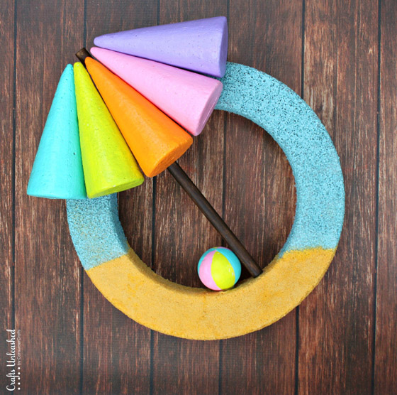 DIY Beach Themed Summer Wreath