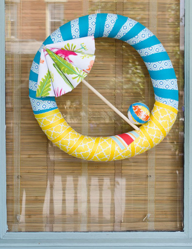 DIY Beach Umbrella Wreath