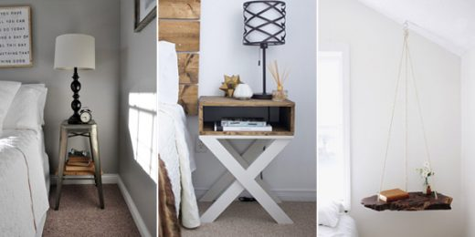DIY Bedside Table & Nightstand Ideas