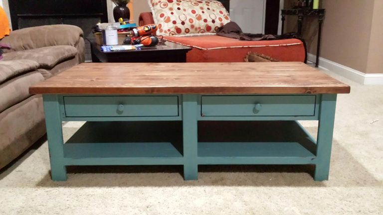 DIY Benchright Coffee Table