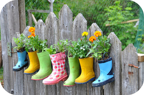 DIY Boot Planter Garden