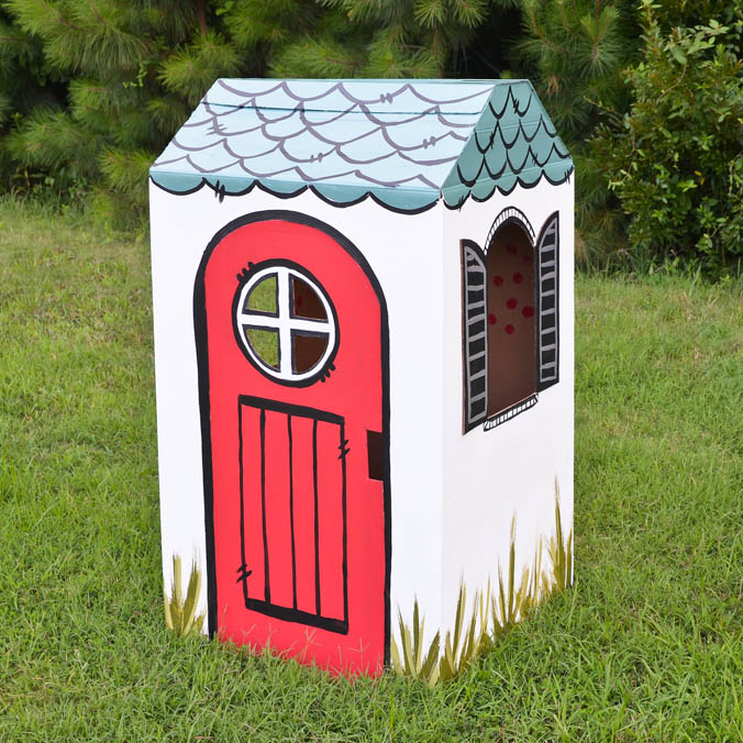 DIY Cardboaard Box Playhouse by ProjectNursery