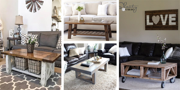 20 Free DIY Coffee Table Plans