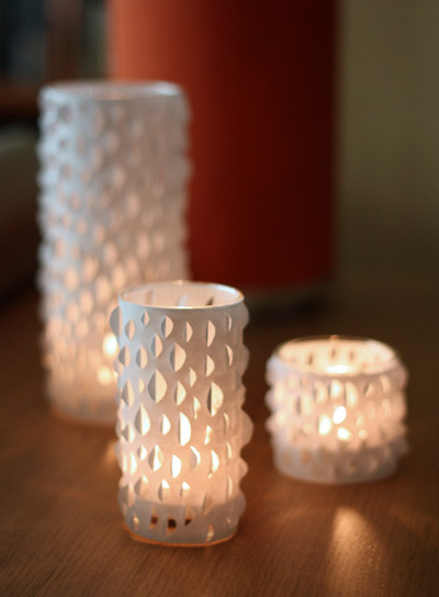 DIY Cut-Paper Candle Holders