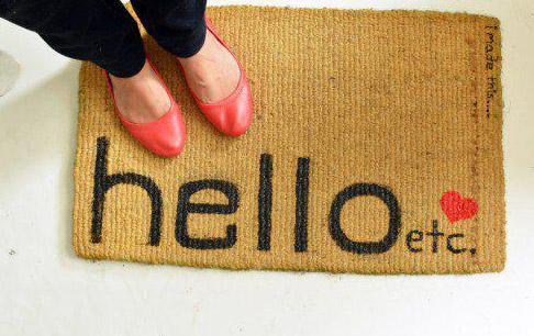 DIY Cute Doormat