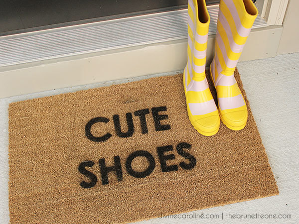 20 Fun Diy Doormats Amp Welcome Mats Crafts Amp Diy