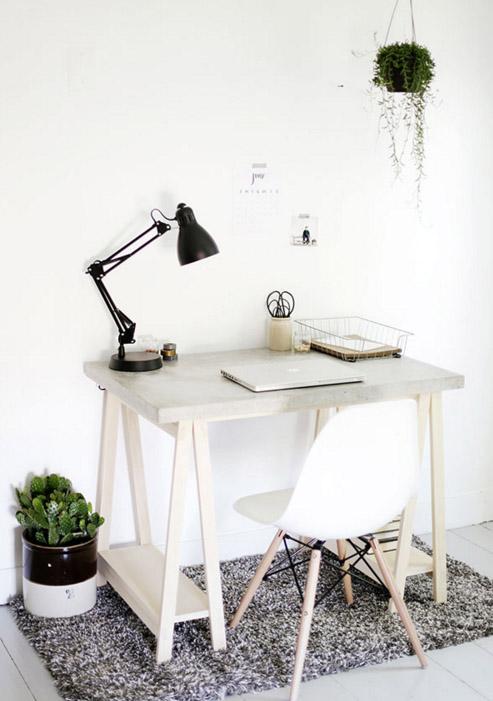 DIY Desk With Concrete Desktop by HomeDepot