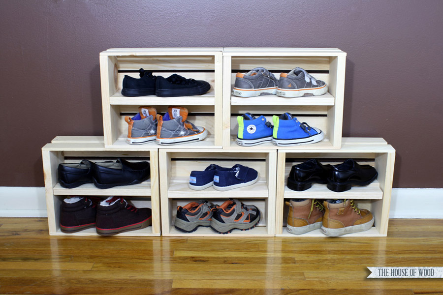 DIY Easy Shoe Storage Display