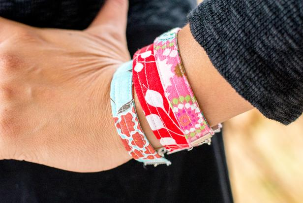 DIY Fabric Bracelets Made From Scraps