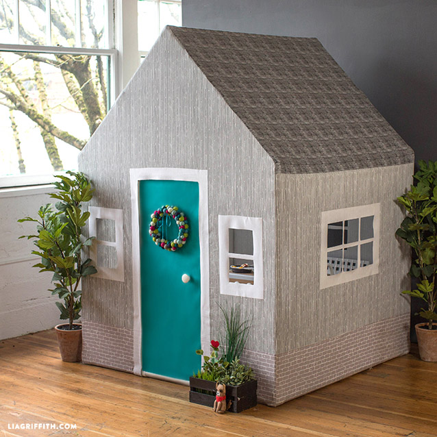 DIY Fabric Playhouse by Lia Griffith