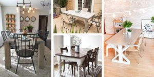 20 Free DIY Farmhouse Table Plans