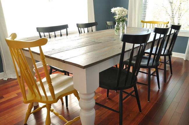 DIY Farmhouse Table by DecorAndTheDog