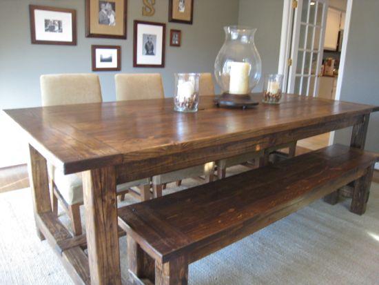 DIY Farmhouse Table by Tommy&Ellie