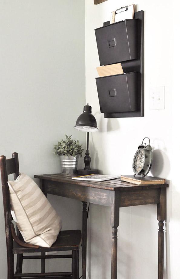 DIY Farmhouse Writing Desk by CherishedBliss