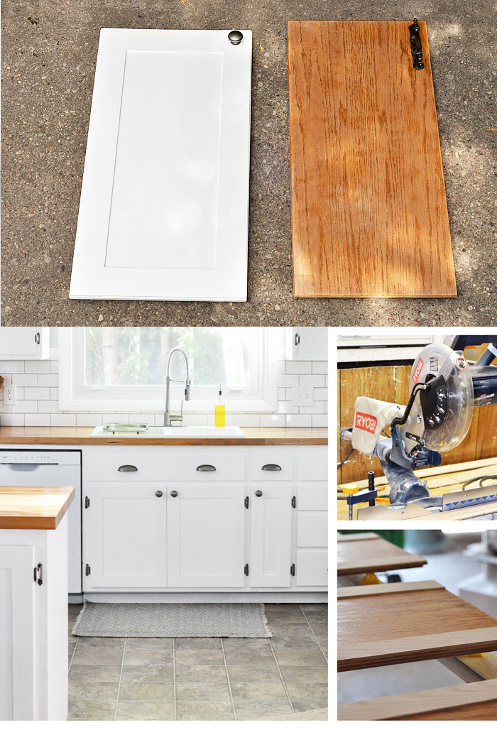 DIY Flat Doors Turned Into Shaker Style Cabinets