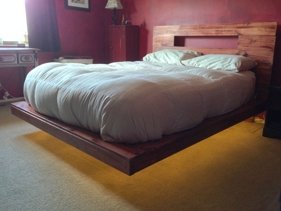 DIY Floating Bed