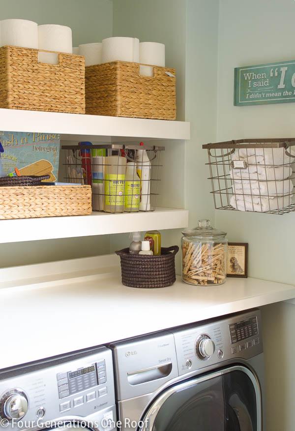 DIY Floating Shelves by FourGenerationsOneRoof